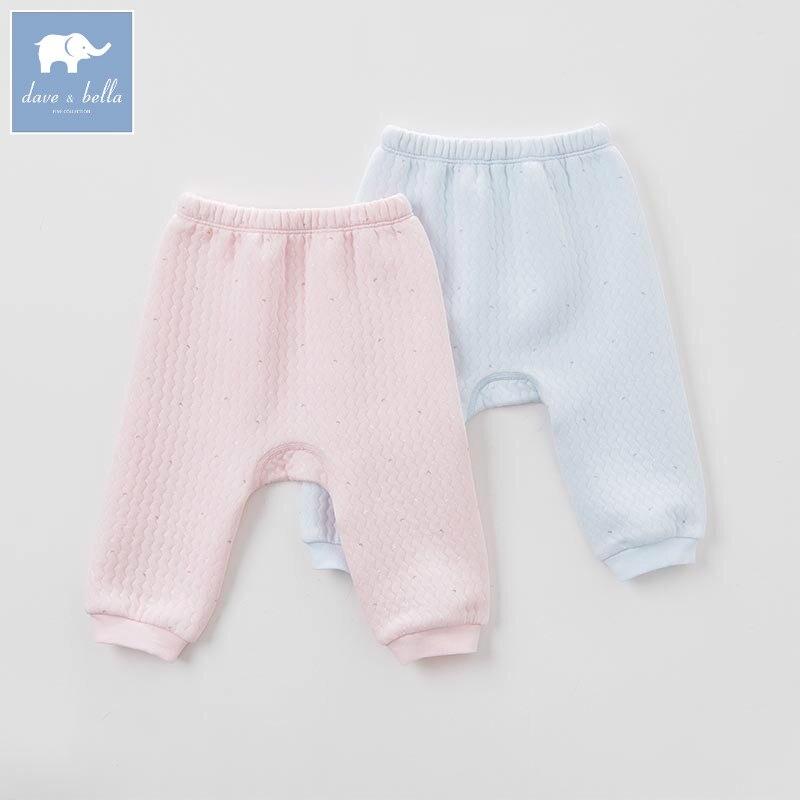 DB6472 dave bella autumn baby unisex sleepwear boys underwear girls pajamas trousers children soft under pants