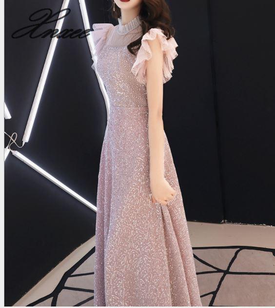 Kleid weibliche 2019 neue temperament kleid edle und dünne einfache großzügige bankett high end damen elegante-in Kleider aus Damenbekleidung bei  Gruppe 1