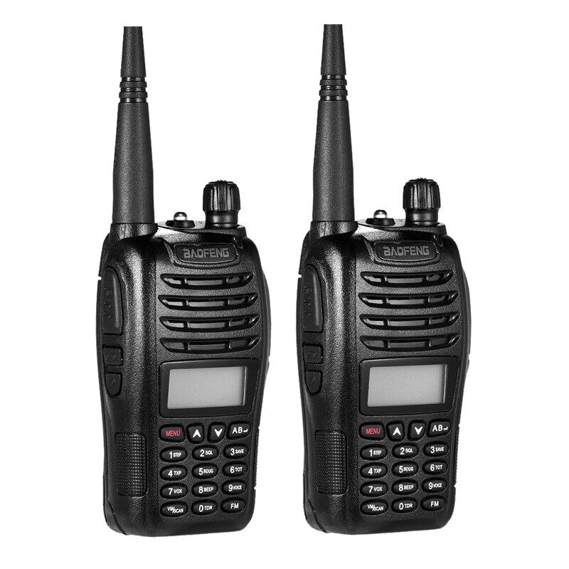 2PCS Portable Walkie Talkie Baofeng Uv-b6 Two Way Radio Dual Band VHF 136-174/400-470MHz UHF 5W Transceiver Baofeng UV B6