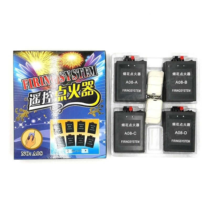 A08 8 canaux sans fil télécommande célébration ballon allumeur mini feux d'artifice dispositif de feu machine pour fête de mariage - 2