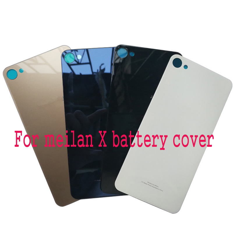 Fashion Rear Housing For Meizu Meilan X Battery Cover Reflection Glass Back Door Replcement Adhesive Sticker