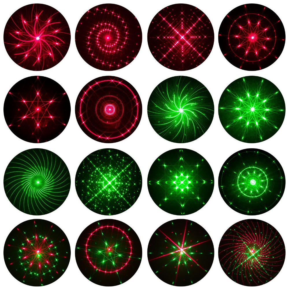 Laser Projector Lights Red&Green Moving starry sky Landscape Light Christmas indoor Outdoor Decorations Garden Spotlights