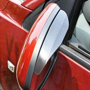 Image 3 - 2 sztuk pcv lusterko wsteczne samochodu naklejki deszcz brwi Auto boczne lustro deszcz deska tarcza cień śnieg osłona Protector