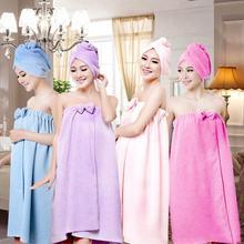 New Cute Soft Microfiber Magic Absorbent Dry Spa Bath Towel Shower Towels Women Girls 145x75cm Bath Towel Skirt Dry Hair Cap цена