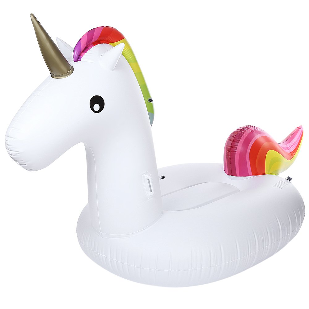 Inflatable air garden beach sofa giant unicorn floating rideable swimming pool float environmentally summer water fun