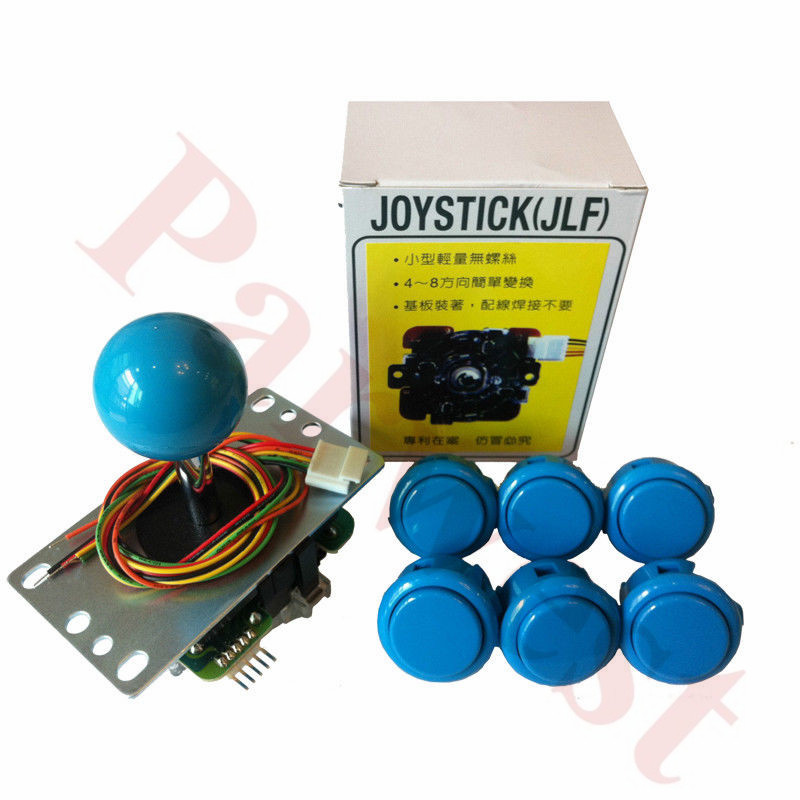 Free Shipping Japan Original Sanwa JLF-TP-8YT Joystick+6PCS OBSF-30 Sanwa Push Buttons For Arcade Game DIY Kits Parts