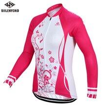 SIILENYOND Winter Fleece Women Pro Cycling Jersey/ Mountian Bicycle Clothing Super Warm Thermal Womens Bike Sportswear
