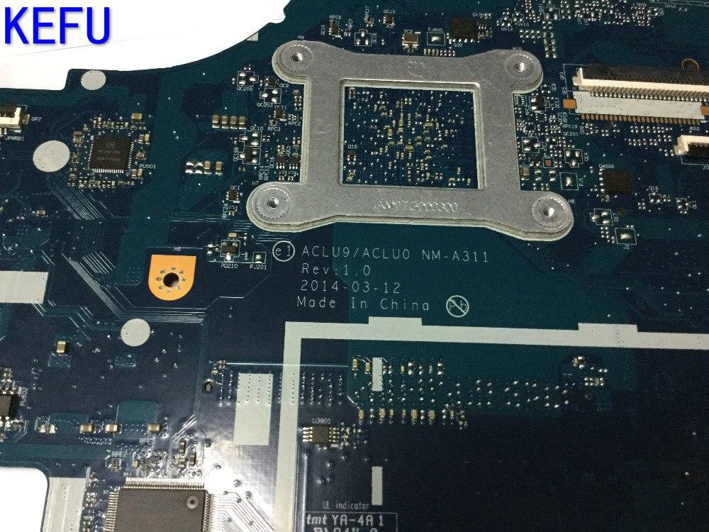 KEFU NOUVELLE CHAUDE EN RUSSIE LIVRAISON GRATUITE ACLU9/ACLU0 NM-A311 mère D'ordinateur Portable pour Lenovo G50-30 Notebook pc COMPARER S'IL VOUS PLAÎT