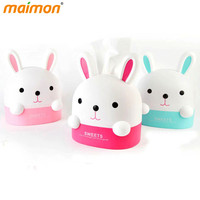 Lovely Bunny Roll Paper Holder Rabbit Storage Box Home Office Desktop Plastic Tissue Canister Container Paper Organizer