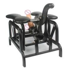 Руководство качели местный диван секс стул подключен Фаллоимитаторы с всасывания и Фук Robo Фаллоимитаторы классический Секс-игрушки для женщины и человек
