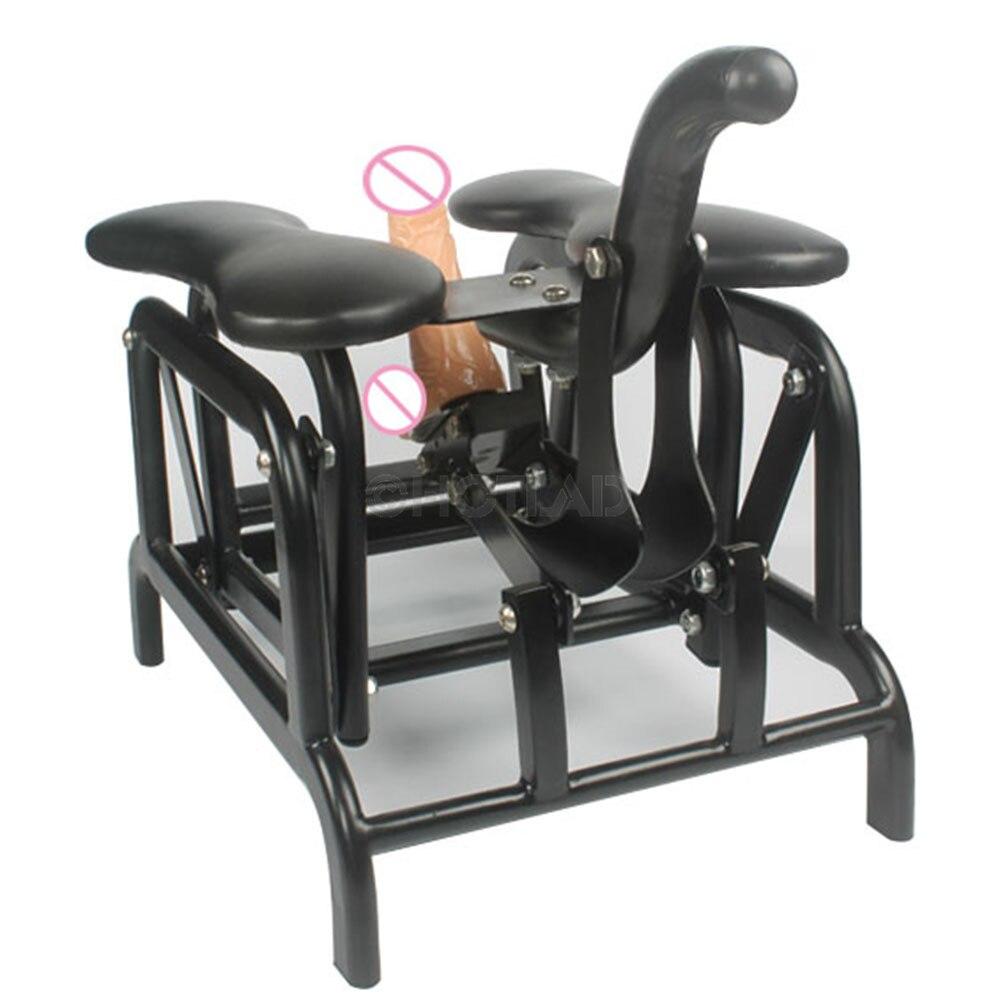 Manual de Balanço Sofá Assento Da Cadeira Sexo Dildos com Ventosa Conectado e Fuk Robo Dildos Clássico Brinquedo Do Sexo para a Mulher e homem