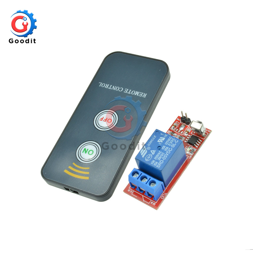 DC 5V 12V 1 Channel Relay Module Infrared IR Remote Switch Control 1 CH Relay Driving Board Controller for Electronic