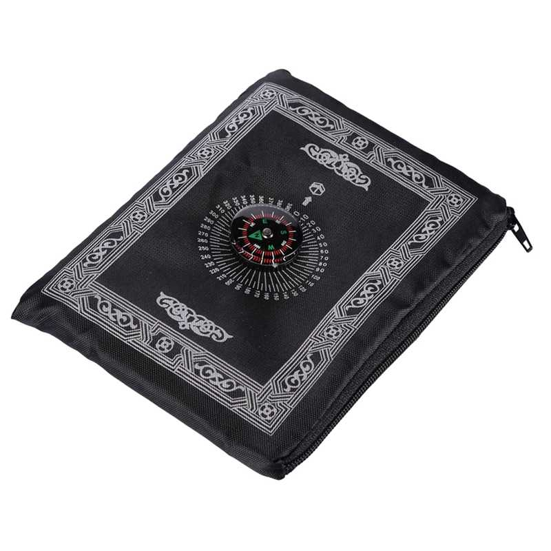 60 cm x 60 cm Rot Tasche Tragbare Wasserdichte Gebet Matte teppich Matte Kniend Gebet Matte für Muslimischen Kompass Islam
