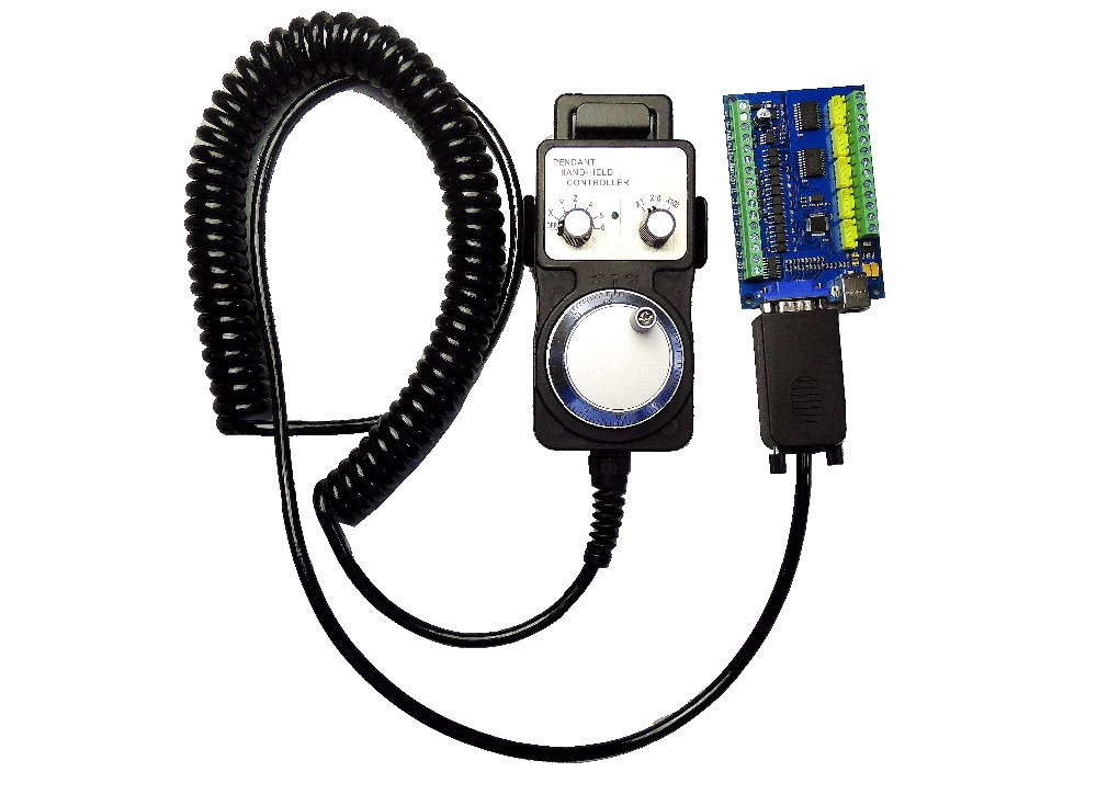 MACH3 USB 5 Axis 100KHz USBCNC Smooth Stepper Motion Controller card breakout board + 1pcs High quality industrial hand wheel-in Motor Controller from Home Improvement