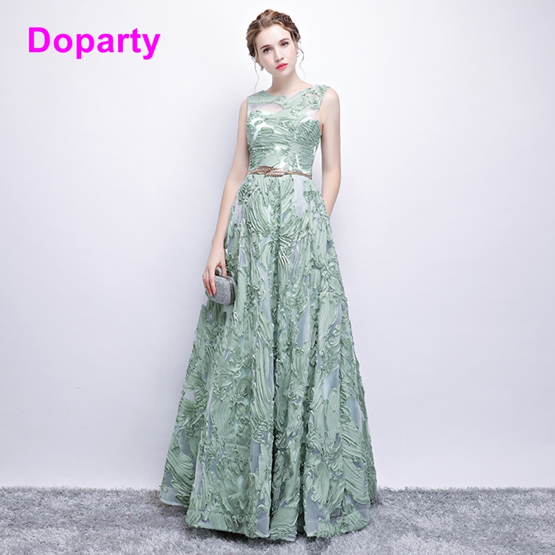 Doparty XS3 2018 formal women turquoise luxury floor length emerald green engagement wedding guest elegant long party dresses