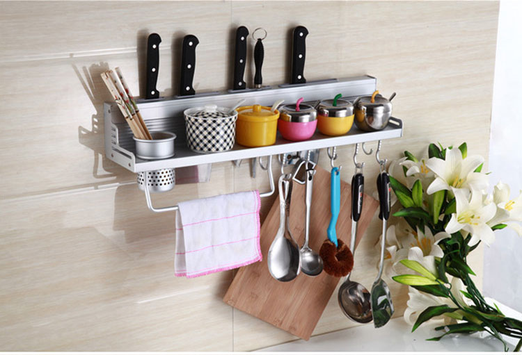 Specifications Of Ju0026J Multifunctional Wall Hanging Aluminum Kitchen Storage  Rack Tool Holder