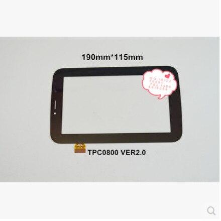 Новый 7 дюймов tablet емкостной сенсорный экран TPC0800 VER2.0 черный бесплатная доставка