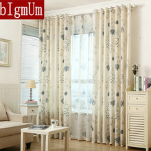 Foral Window Curtains For Living Room Blackout Blinds For Bedroom Off White  Tulle Ready Made Part 45
