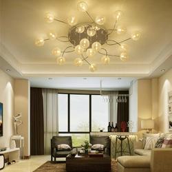 Современный алюминиевый желчный шар светодиодный потолочный светильник креативная спальня гостиная круглый потолочный светильник