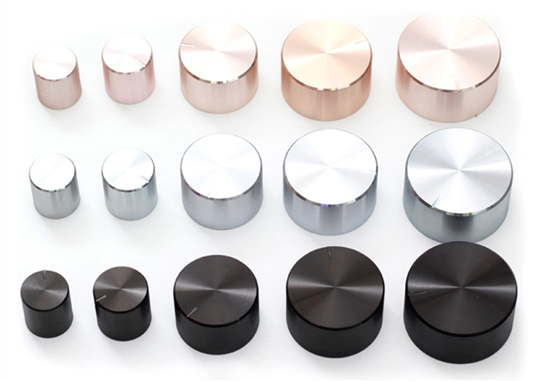 Aluminum plastic potentiometer knob 15*17 25*17 30*17 34*17*6mm Chassis volume cap amplifier knobs kyp16 16 4j gray potentiometer knob cap hole 4mm