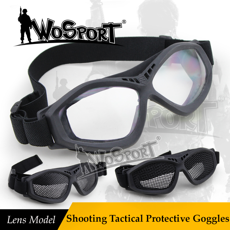WoSporT Shooting Tactical Military Protective Goggles PC Lens Bulletproof Sunglasses For Paintball Airsoft Hunting Combat Army