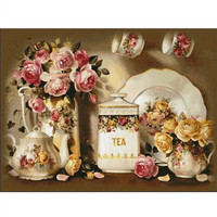 Kitchen Flower Diamond Embroidery 3d Diy Diamond Painting Cross Stitch Kits For Square Full Drill Mosaic