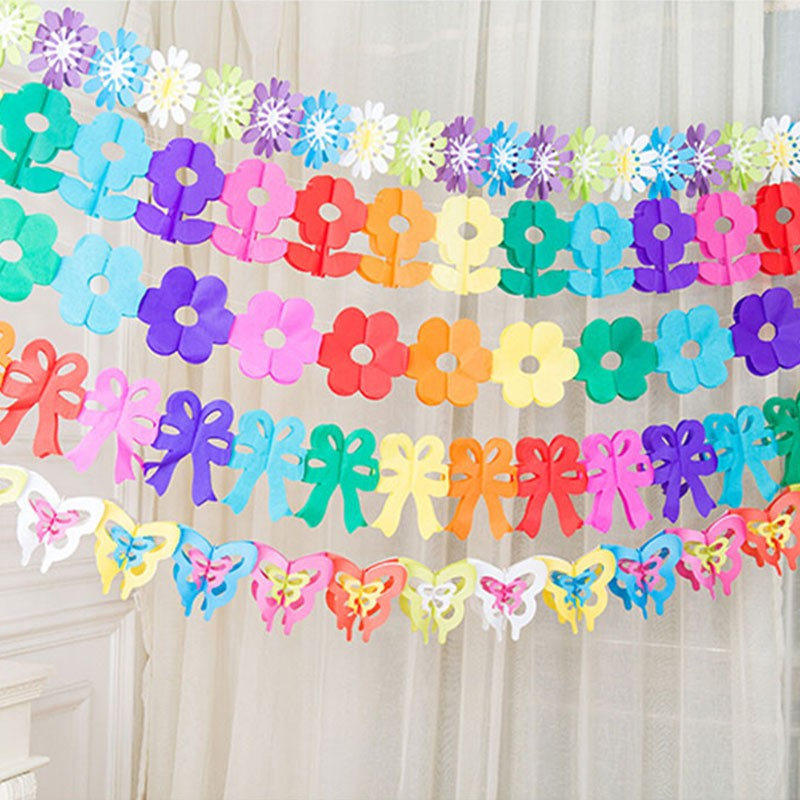 Paper Bunting Party Decoration Banner Flag Garland Wedding Birthday Supply S