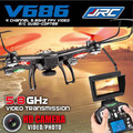 Jjrc V686 FPV Drone 2.4 G 4CH 5.8 G FPV RC Quadcopter com 720 P HD câmera RTF VS JJRC CX-30 WLToys V686