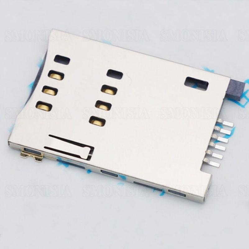 SIM Card Slot Self Push For MUP C719 6P Flip Connector Original 30pcs molex 4 in 1 38pins sd card holder tray push push connector self push type