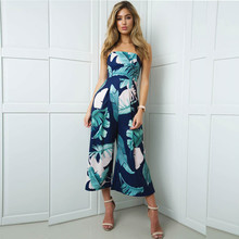 2019 Womens Sexy Print Holiday Casual Mini Playsuit Ladies Jumpsuit  3.23