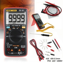 AN8009 Digital Multimeter True-RMS Auto Range NCV Ohmmeter AC/DC Voltage Ammeter Current Power Meter Temperature Electronic Test купить недорого в Москве