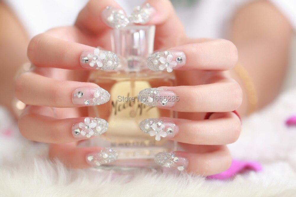 EF58 2015 fake nails french acrylic acrylic tips false nails ...