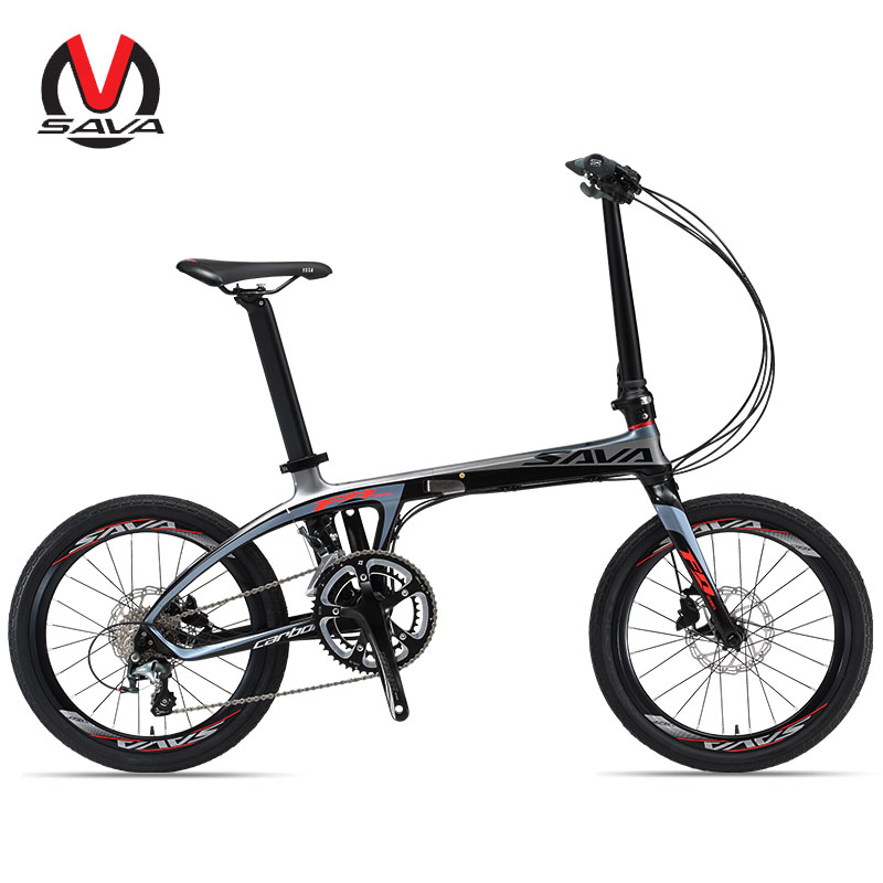 SAVADECK Folding Bike Carbon Fiber Frame 20 inch City Bike