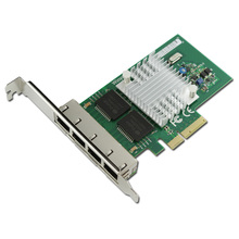 Network Card PCIe to 4 Ports Gigabit Ethernet Card Network Adapter 1000Mbps I340T4 for Server