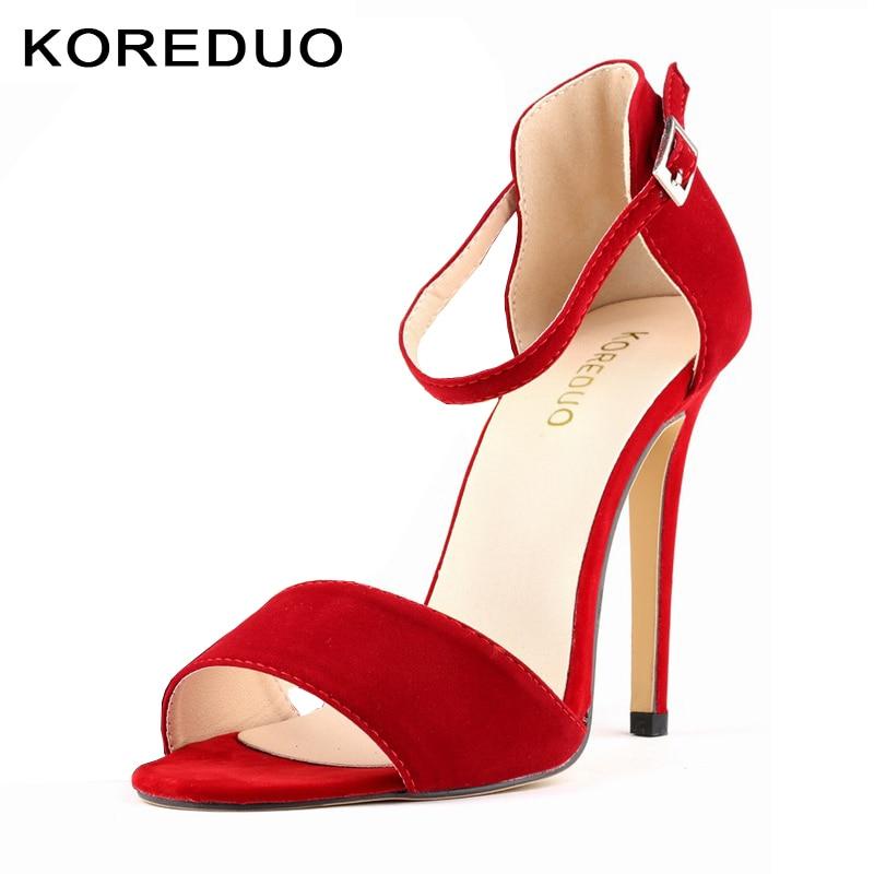 KOREDUO Summer Women Sandals Open Toe Flip Flops Womens Sandles Thin high Heels Women Shoes Casual Style Shoes Big size 42 mw