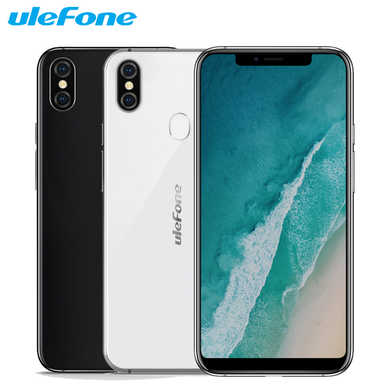 "Original Ulefone X Mobile Phone 5.85"" HD+ 4GB RAM 64GB ROM MT6763 Octa Core Android 8.1 Dual Camera 3300mAh Face ID Smartphone"