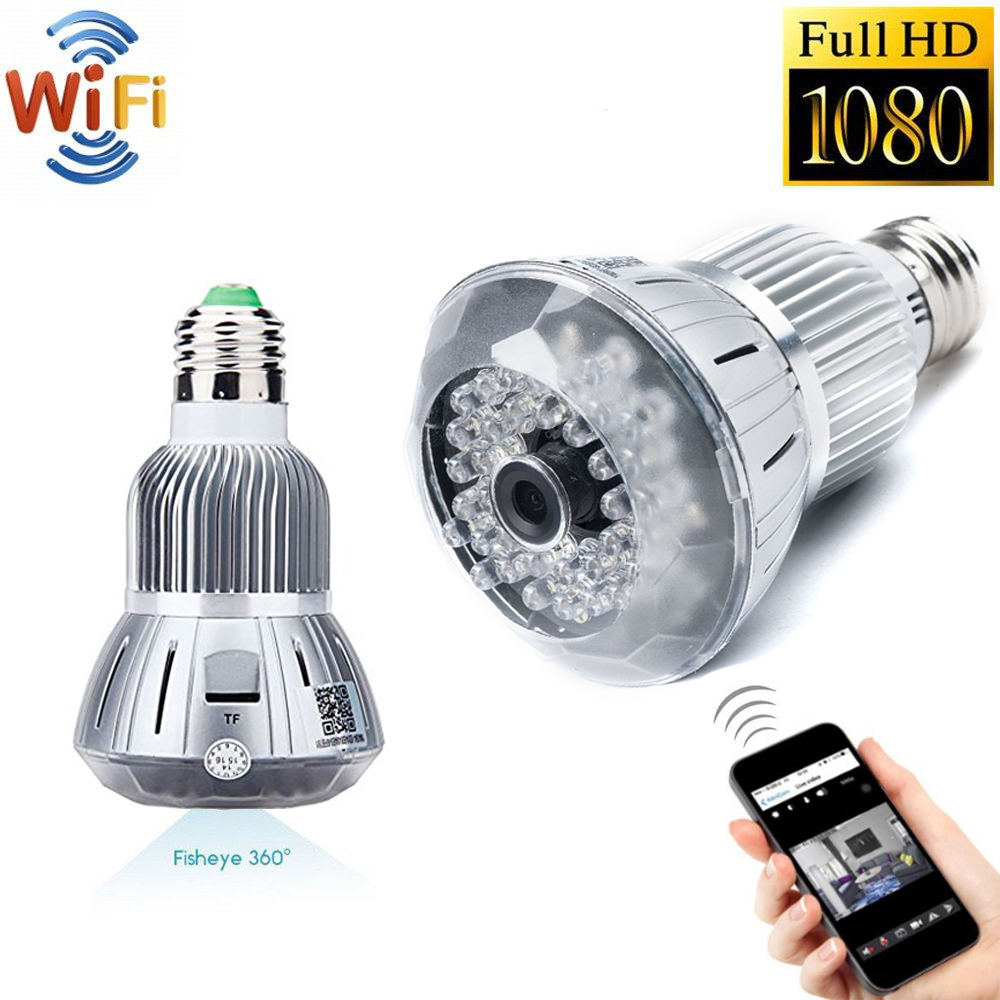 Wifi IP Camera Indoor Bulb Light Camera Home Security CCTV Surveillance Micro Camera 720P 1080P Mini Smart Night Vision HD CAM украшение декоративное magic home филин 23 х 19 х 5 см 44370