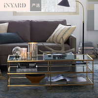 InYard Selected 1 2 Meters Metallic Gold Silver Nordic Modern Simple Line Glass Stainless Steel