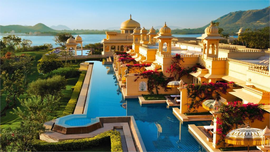 building sea beach hotel habitat species landscape india design pool 4 sizes home decoration canvas poster