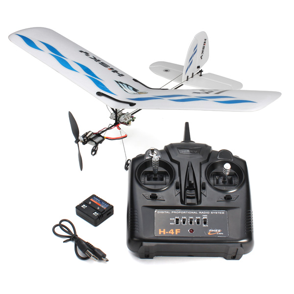 ФОТО New Hisky Buzz HFW400 Micro Flyer 2.4G 3CH Parkflyers Indoor RC Airplane RTF
