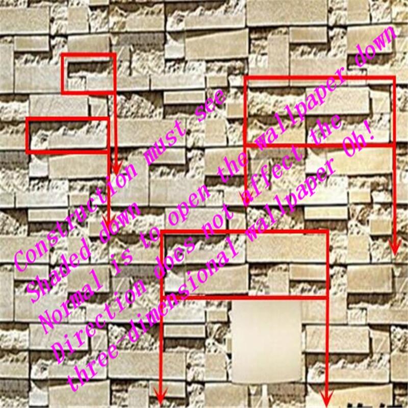 High end 3D brick wallpaper pattern antique brick living room ...