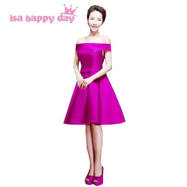 0d4ca032ea82 bridesmaids boat neck purple bridesmaid ball gown dress 2019 grecian satin  brides maid bridemaid off shoulder dresses H2904