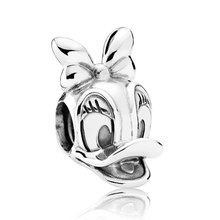 7521823cf Authentic 925 Sterling Silver Bead Charm Vintage Cute Daisy Duck Beads Fit  Women Pandora Bracelet Bangle DIY Jewelry