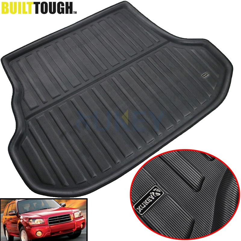 Accessories Fit For Subaru Forester 2003   2008 Rear Trunk Tray Boot Liner Cargo Mat Floor Carpet Protector 2004 2005 2006 2007    1