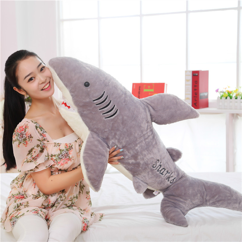 Peluche peluche grand 120 cm requin ratfish requin peluche poupée doux oreiller b0659