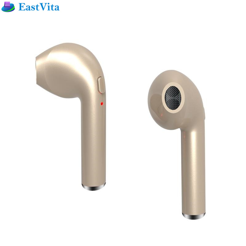 EastVita HBQ I7 Mini Bluetooth Earbud Single Wireless Invisible Headphones With Mic Stereo bluetooth Earphone for Android phone