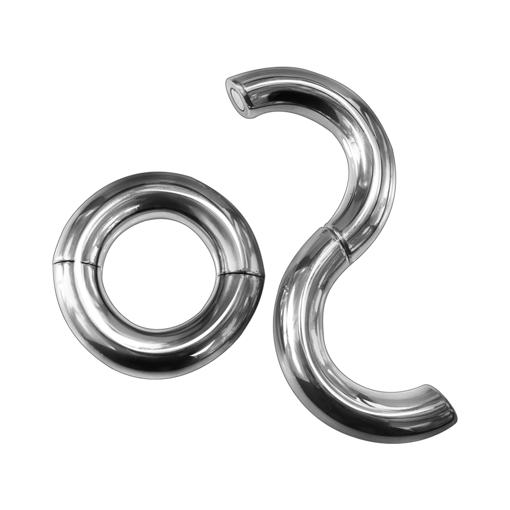Heavy Duty Magnetic Stainless steel Ball Scrotum Stretcher penis Cock Ring For Big Man Delay vejacula Sex Toy adult product 5 size for choose heavy duty magnetic stainless steel ball scrotum stretcher metal penis cock ring delay ejaculation sex toy men page 5