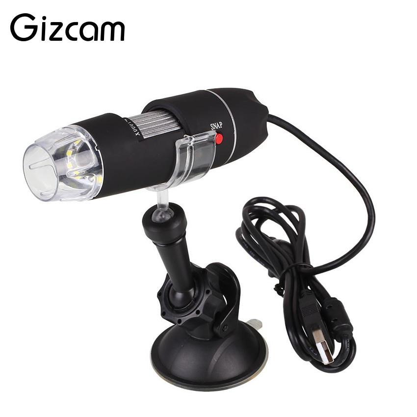Gizcam 1000x Mini Digital USB Mikroskop Lupe Endoskop Videokamera Qualitativ hochwertige Microscopio 40X-1000X Geschenk für Kinder