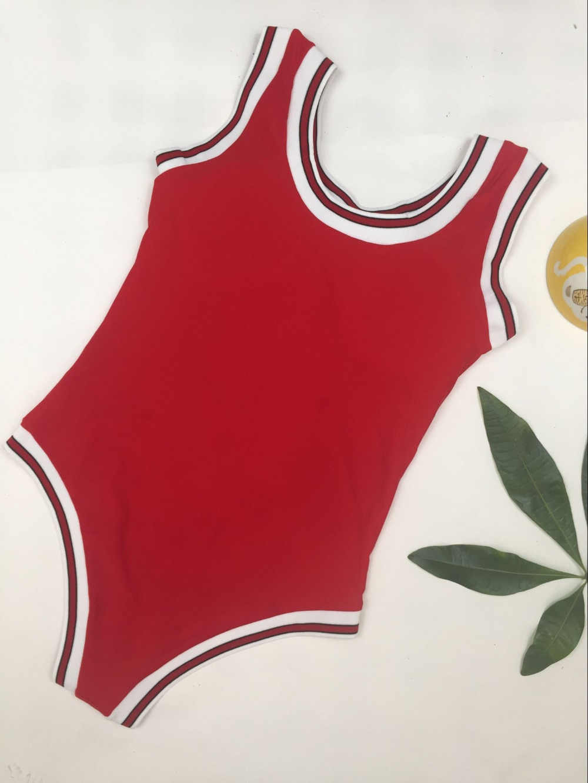 f05851910cb9b ... Вода принцесса Быки Спортивное бикини одна деталь купальники слоган  Красный Купальники для малышек для женщин Горячие ...