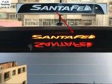 Новый задний тормозной светильник из углеродного волокна наклейки для HYUNDAI IX45 все Новые SANTAFE дополнительный тормозной светильник наклейки ...